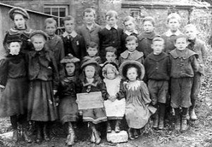 School pupils 1901 a